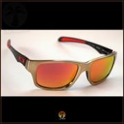 Óculos de Sol Oakley Jupiter Carbon Dourado Lentes Vermelhas Polarizadas 4958c02a8f