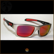 Óculos de Sol Oakley Jupiter Carbon Prata Lentes Vermelhas Polarizadas 933255bd21