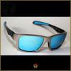 Óculos de Sol Oakley Jupiter Carbon Prata Lentes Azul Ice Polarizadas