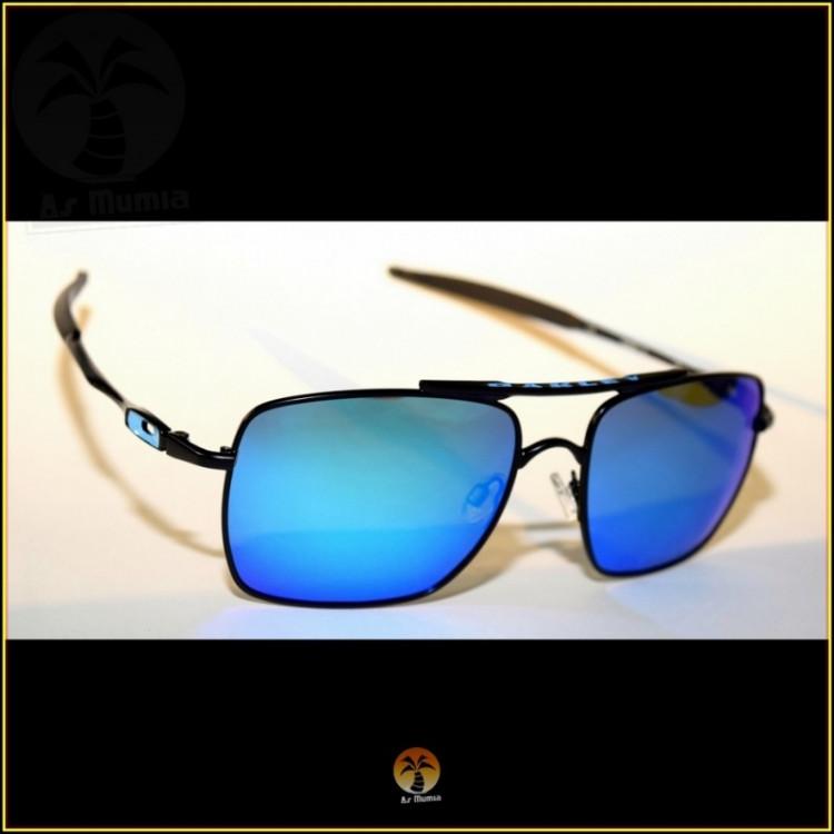 Óculos de Sol Oakley Deviation Preto Lentes Azul Ice Polarizadas