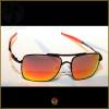 Óculos de Sol Oakley Deviation Preto Lentes Vermelhas Polarizadas