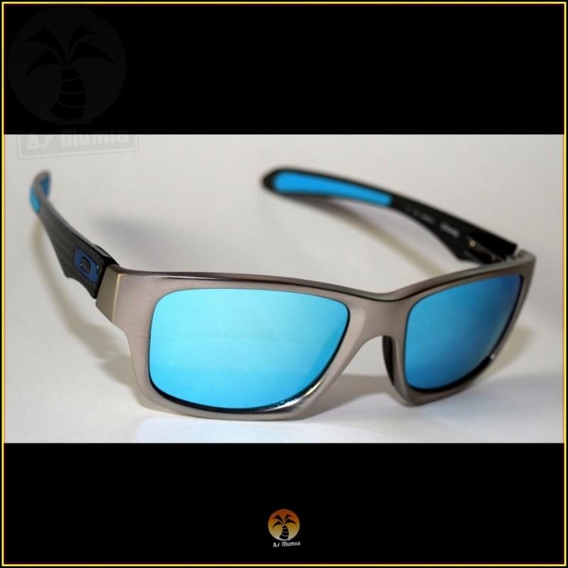 e84f1f8137 Óculos de Sol Oakley Jupiter Carbon Prata Lentes Azul Ice Polarizadas