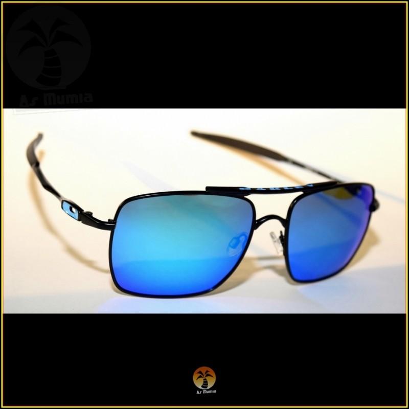 Óculos de Sol Oakley Deviation Preto Lentes Azul Ice Polarizadas 04f86ca3d3